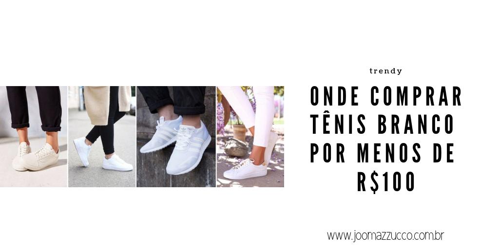 Elegance Functionality 93 - Onde Comprar: Tênis Branco por Menos de R$100