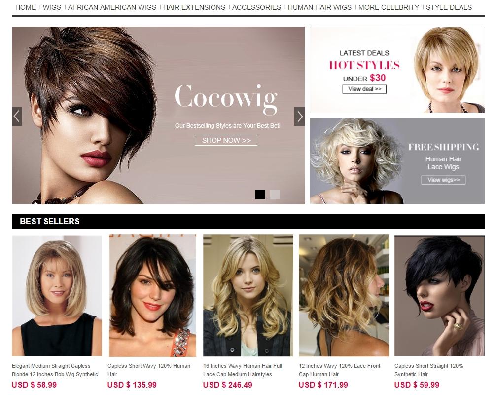 perucas de cabelo humano on-line