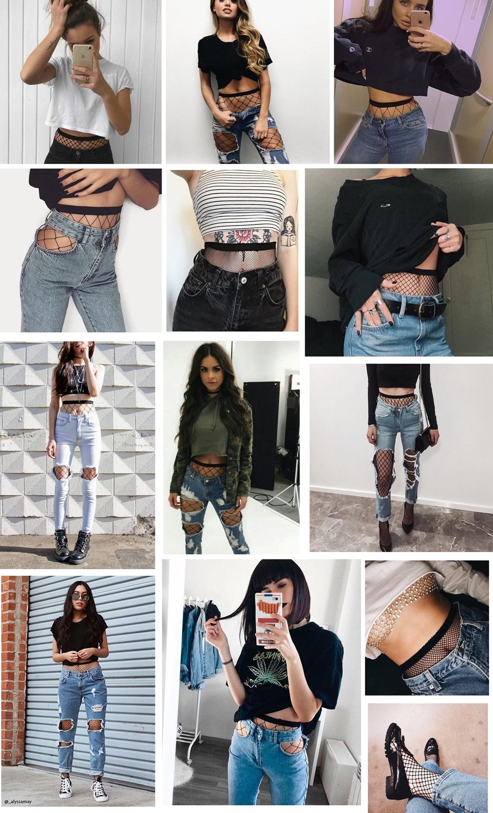 fishnet - Tendência: Combinando Meia Arrastão com Jeans