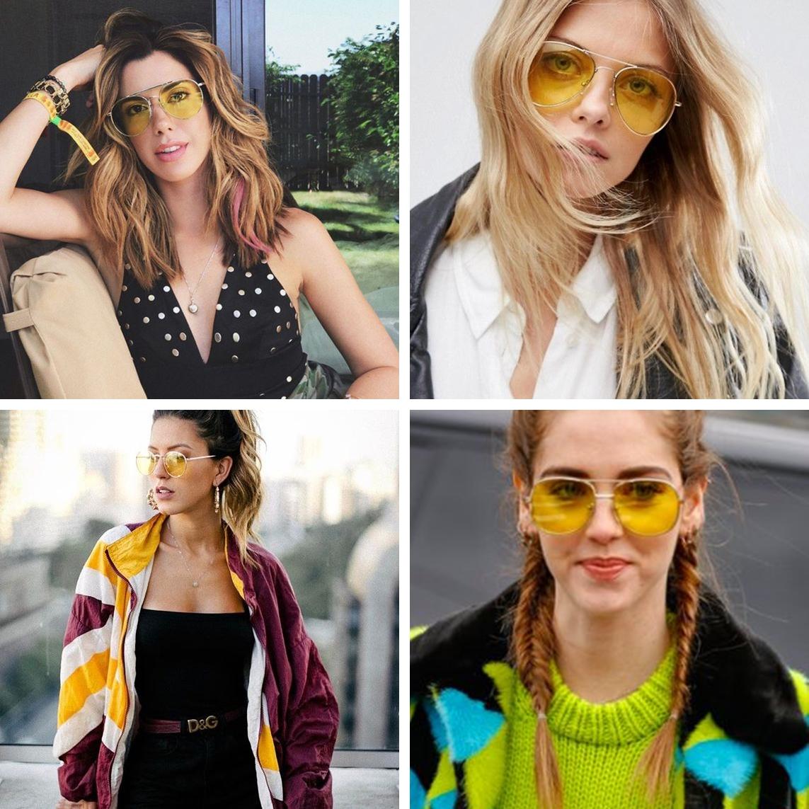 Lente amarela é tendencia2 - Trendy: Óculos de Lente Amarela