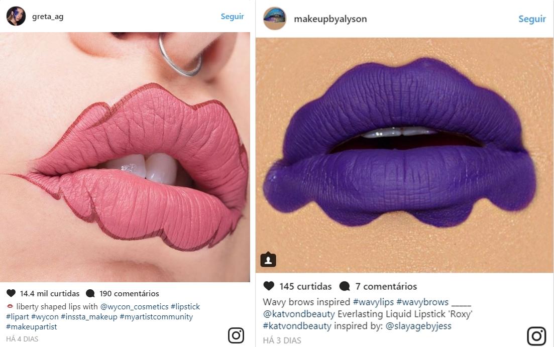 lábios ondulados - Sobrancelhas e Lábios Ondulados - mas heim?