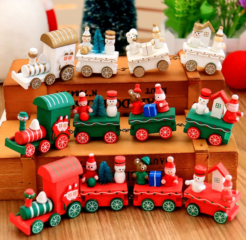 Trenzinho de Madeira Banggood - 06 Itens de Decoração de Natal que são Desejo por Menos de 10$ na Banggood