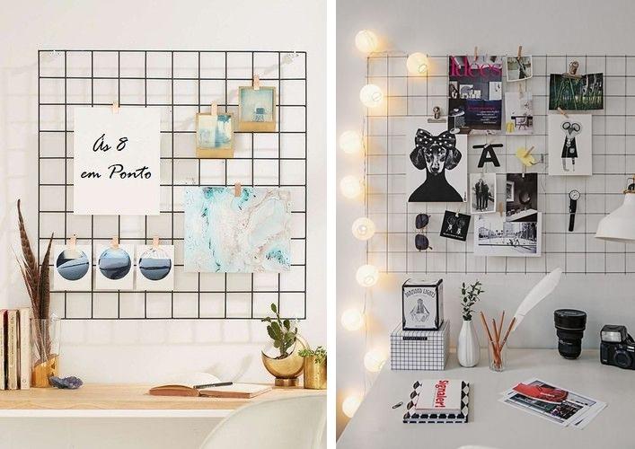 Painel home office - Decorlover: Painel de Tela Aramada