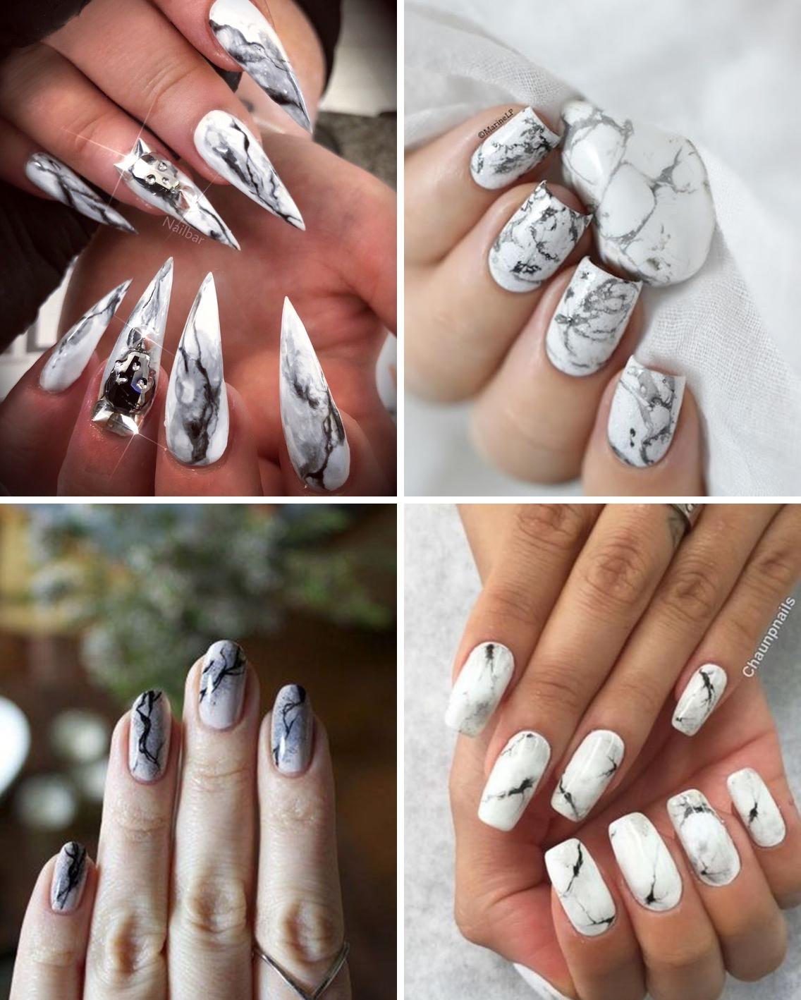 marble 01 - Trendy: Stone Marble Nails - as Unhas Marmorizadas que são Febre no Instagram