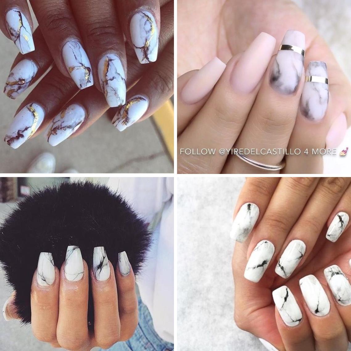 marble 02 - Trendy: Stone Marble Nails - as Unhas Marmorizadas que são Febre no Instagram