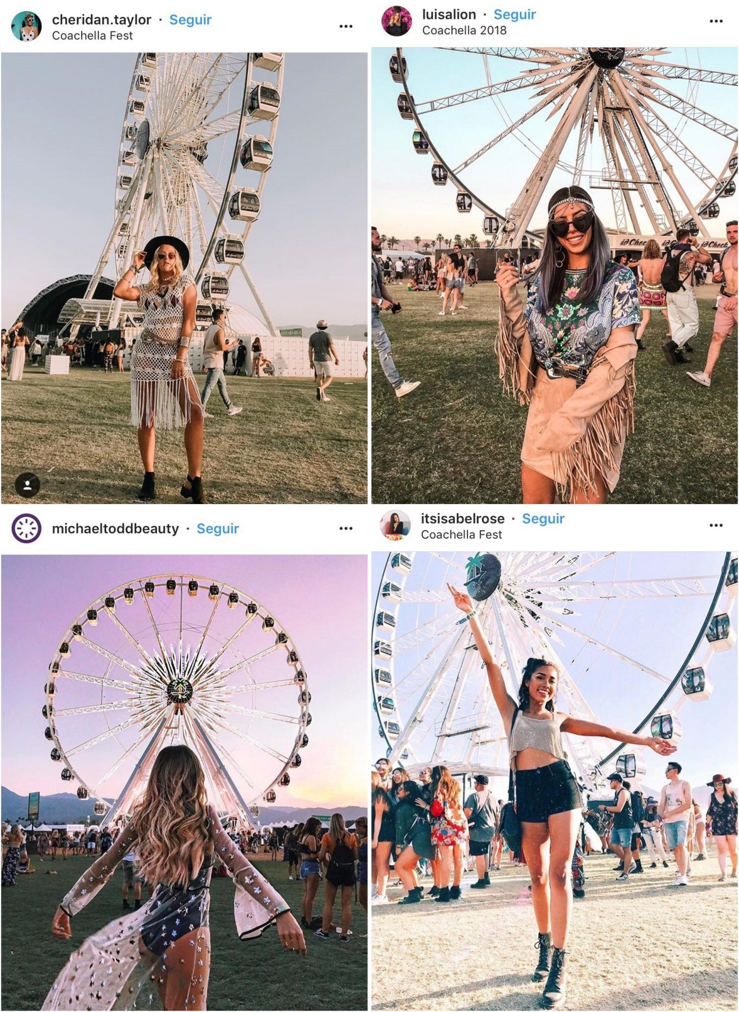 Galera estilosa no Coachella 01 - Os Looks Mais Cheios de Estilo do Coachella