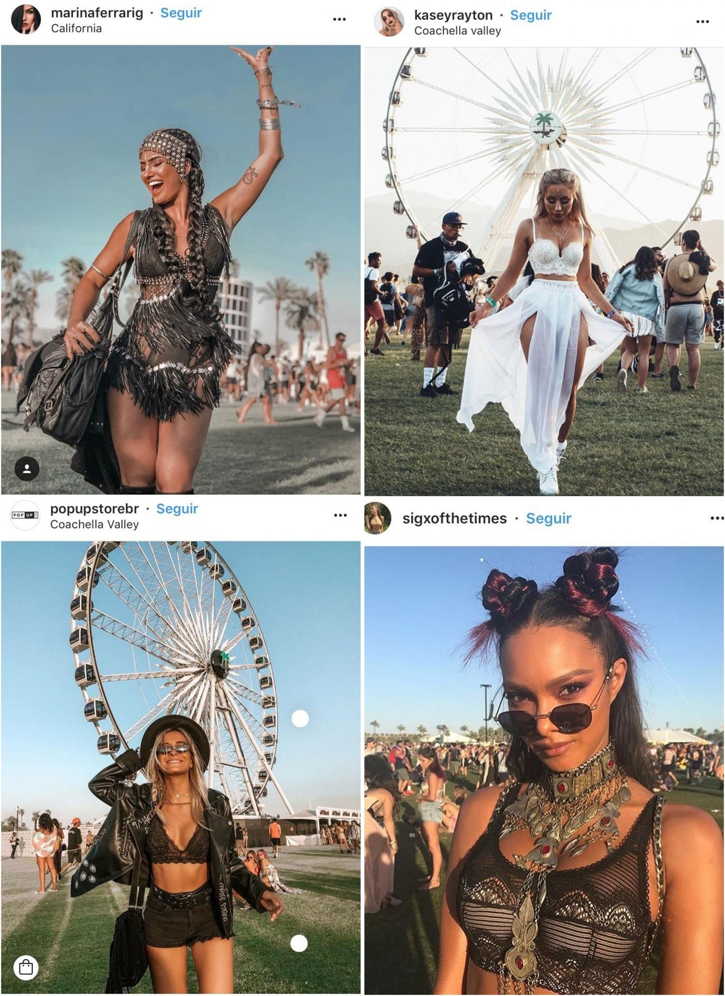 Galera estilosa no Coachella 02 - Os Looks Mais Cheios de Estilo do Coachella