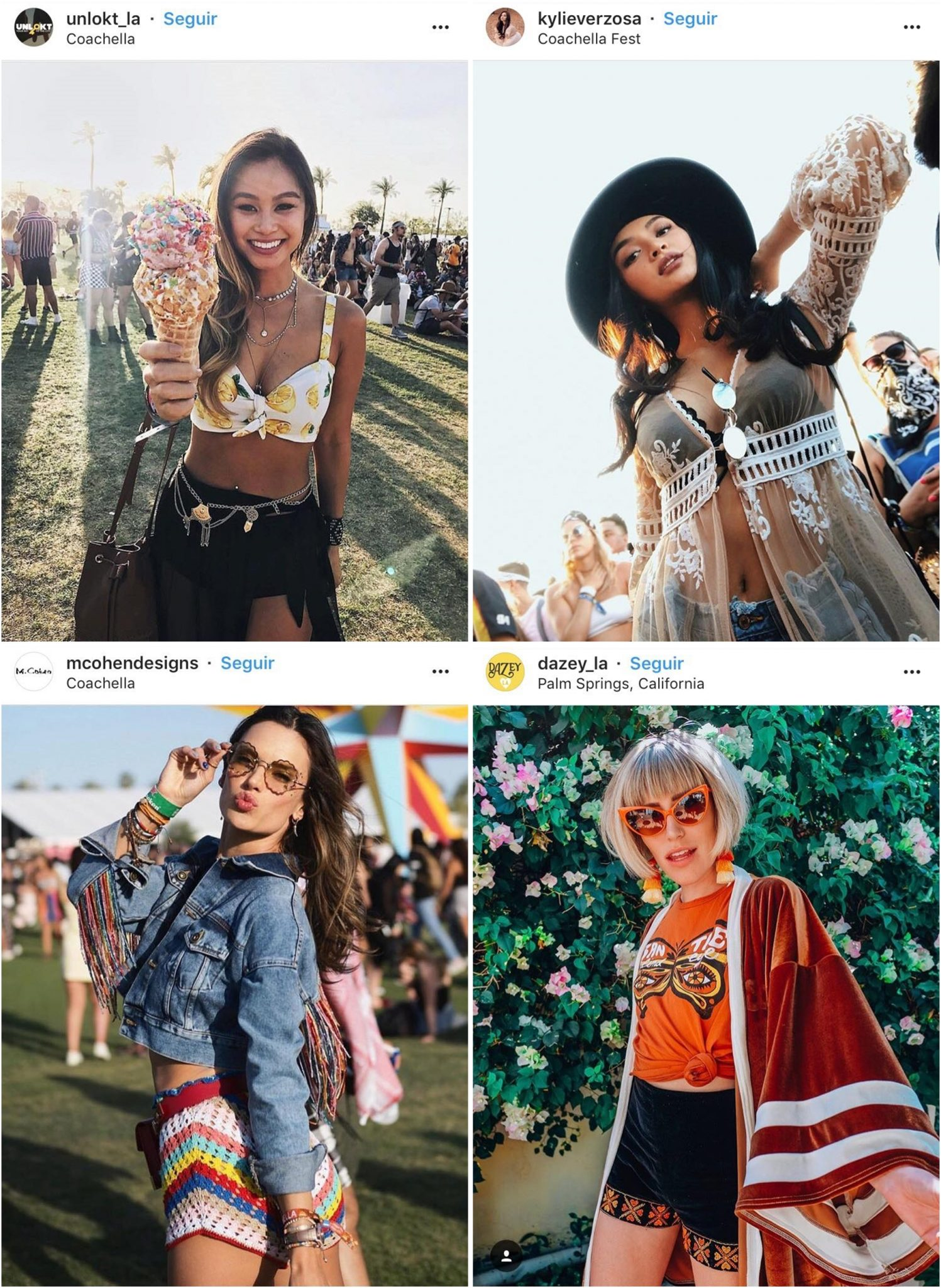 Galera estilosa no Coachella - Os Looks Mais Cheios de Estilo do Coachella