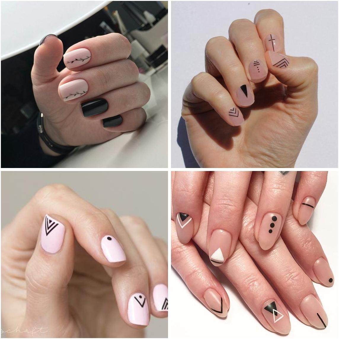 unhas minimalistas 02 - A Febre do Minimalismo: Nail Arts
