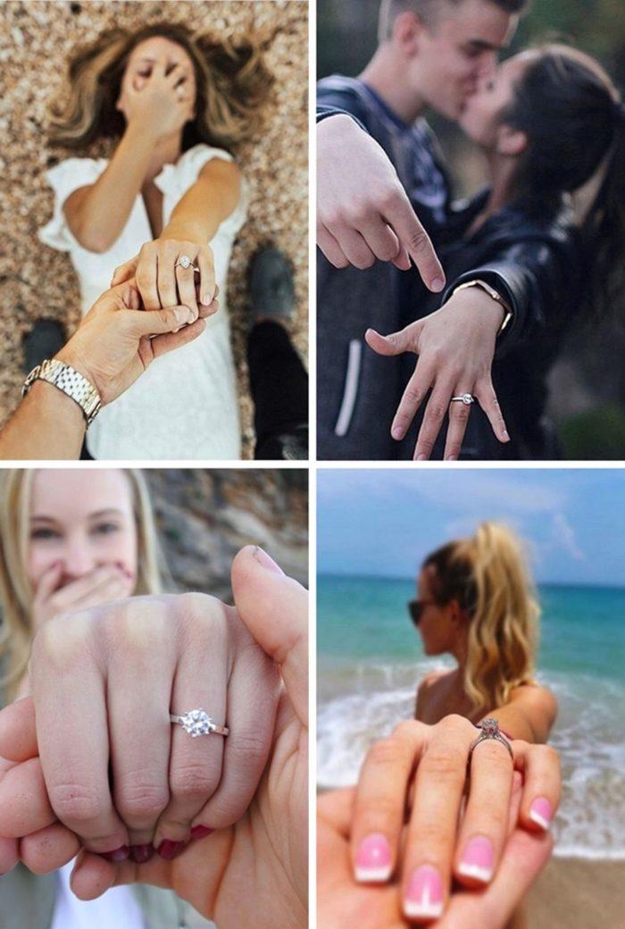 Ideias para noivado 011 700x1040 - + 12 Idéias de Fotos pra Anunciar o Noivado nas Redes Sociais