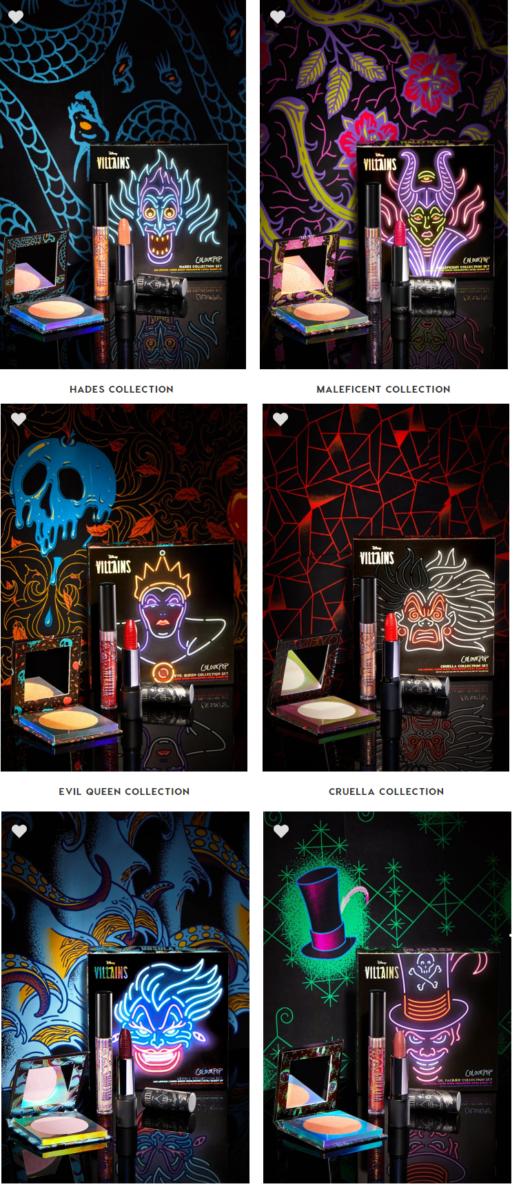 Kit vilãs - A Linha de Maquiagens da Colourpop Inspirada nos Vilões da Disney