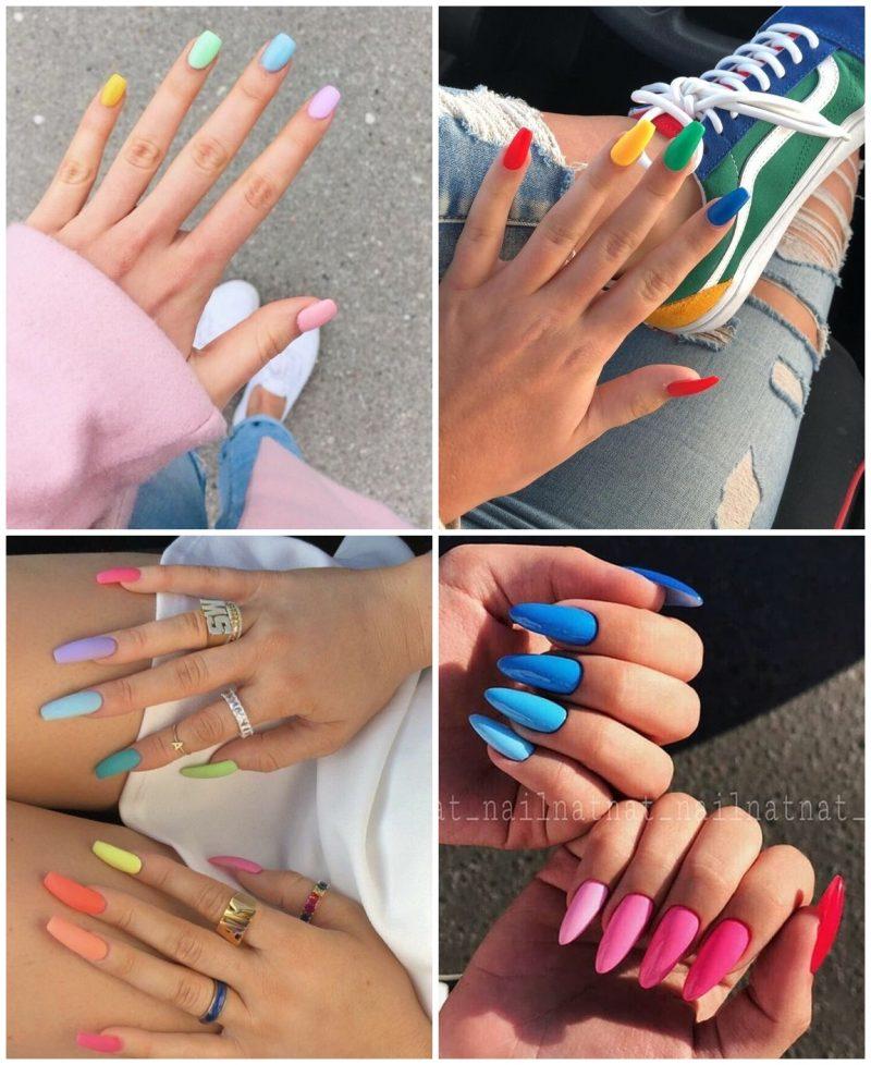 Multicolor 01 800x978 - Unhas Multicoloridas São Tendência pra Primavera e Verão