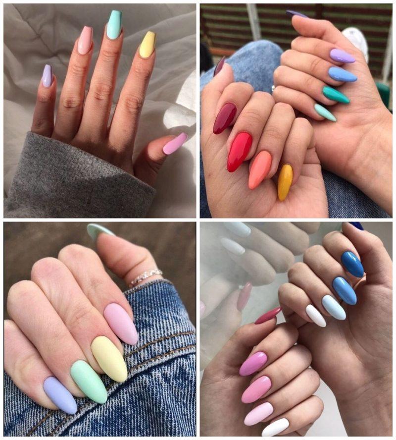 Multicolor 02 800x888 - Unhas Multicoloridas São Tendência pra Primavera e Verão