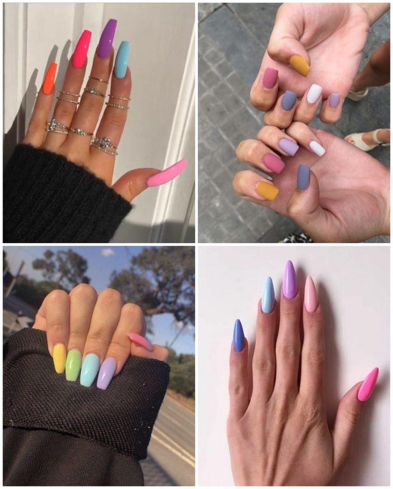 Multicolor 03 800x996 - Unhas Multicoloridas São Tendência pra Primavera e Verão