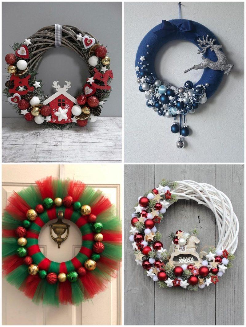 Guirlandas 01 800x1061 - 12 Inspirações de Enfeites de Porta para o Natal + Ideia de DIY