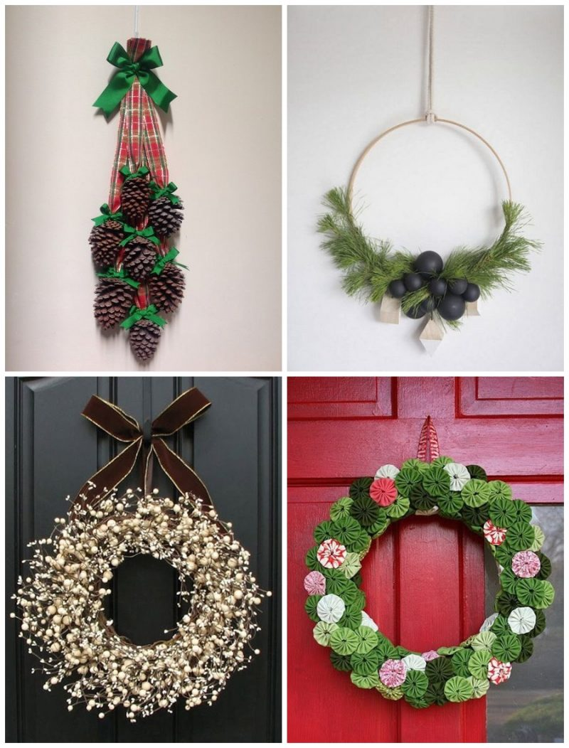 Guirlandas 03 800x1052 - 12 Inspirações de Enfeites de Porta para o Natal + Ideia de DIY